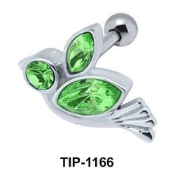 Stone Set Bird Helix Ear Piercing TIP-1166