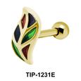 Leaf Shaped Ear Piercing TIP-1231E