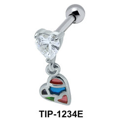 Heart Shaped Ear Piercing TIP-1234E