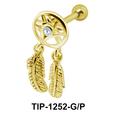 Chandelier and Leaves Design Ear Piercing TIP-1252