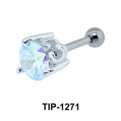 Ear Piercing with Prong Stones TIP-1271