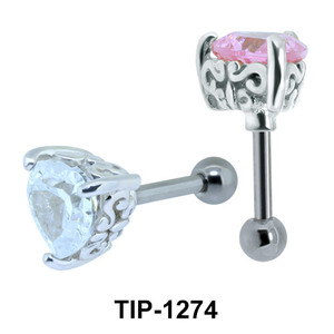 Heart Shaped Ear Piercing TIP-1274