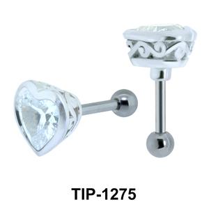 Heart Shaped Helix Ear Piercing TIP-1275