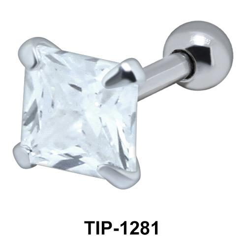 Square Cut Upper Ear Piercing TIP-1281