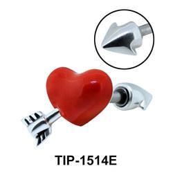 Red Heart Helix Ear Piercing TIP-1514E