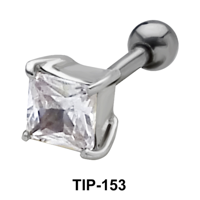 Square Stone Helix Ear Piercing TIP-153