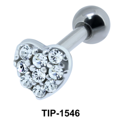 Heart Shaped Ear Piercing TIP-1546