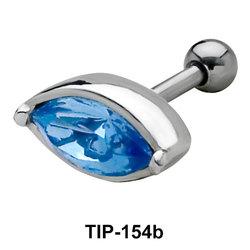 Blue Eye Helix Ear Piercing TIP-154b
