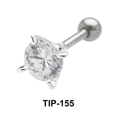 Round Stone Helix Ear Piercing TIP-155