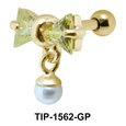 Bow Dangling Pearl Piercing Helix Mix TIP-1562