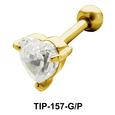 Heart Stone Helix Ear Piercing TIP-157