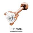 Heart Stone Helix Ear Piercing TIP-157s