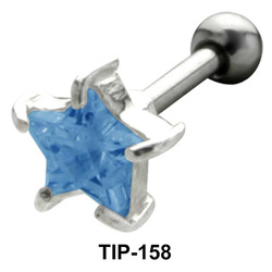 Prong Set Star Stone Helix TIP-158