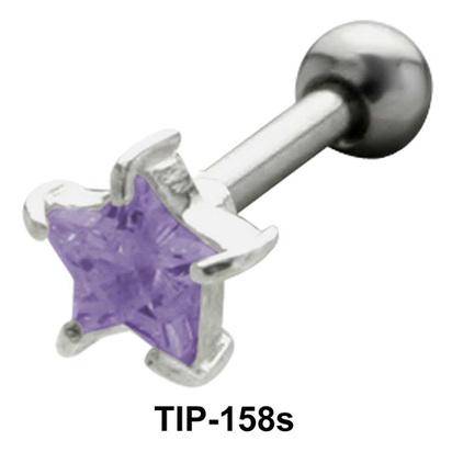 Blue Star Helix Ear Piercing TIP-158s