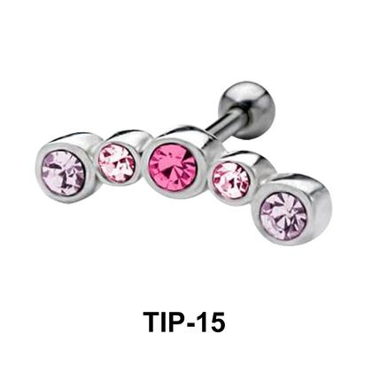 Rhinestone Helix Ear Piercing TIP-15
