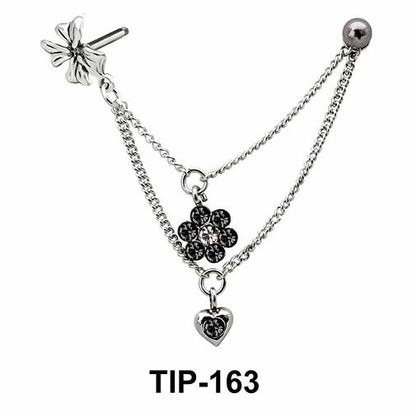 Flowers with Chain Helix Chain TIP-163