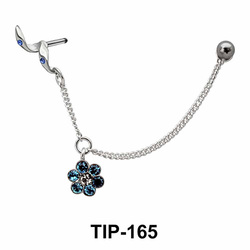 Dangling Flower Helix Chain TIP-165