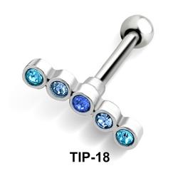 Blue Stones Helix Ear Piercing TIP-18