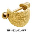 Shimmering Fatty Upper Ear Cartilage Shields TIP-182b-XL