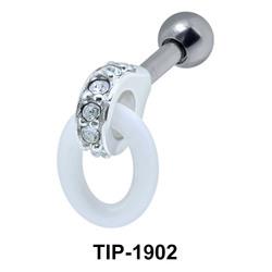 Ceramic Ring Helix Piercing TIP-1902
