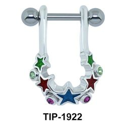 Colorful Star Ear Piercing Shields TIP-1922