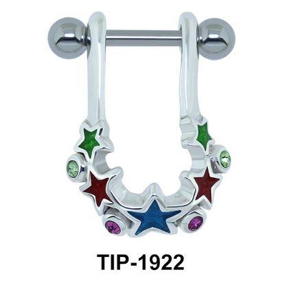 Colorful Star Ear Piercing Shields TIP-1922