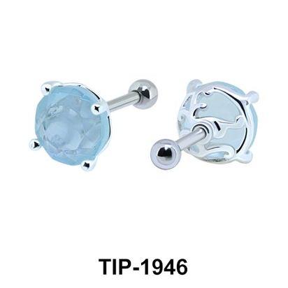 Fancy Color Stone Helix Ear Piercing TIP-1946