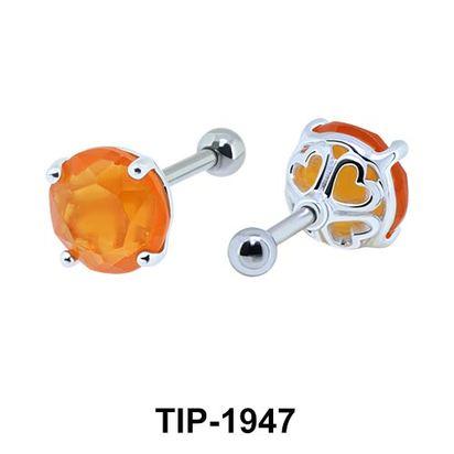 Fancy Color Stone Helix Ear Piercing TIP-1947