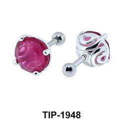 Fancy Color Stone Helix Ear Piercing TIP-1948