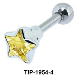 Golden Diamond and Star CZ TIP-1954-4