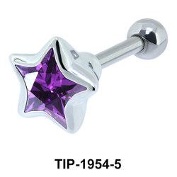 Purple Diamond and Star CZ TIP-1954-5