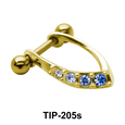 Blue Stone Cartilage Mini Shields TIP-205s