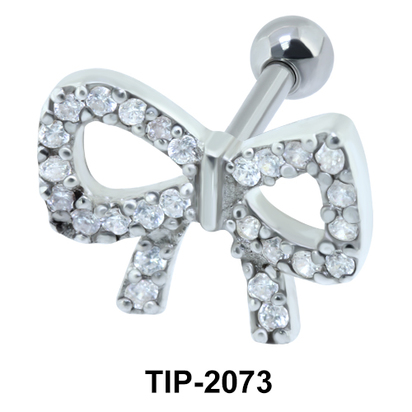 Bow Helix Ear Piercing Romantic Line TIP-2073