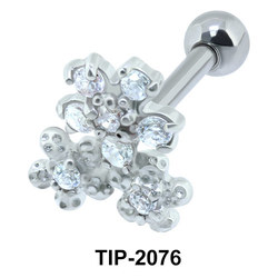 Stone Studded Helix Ear Piercing Romantic Line TIP-2076