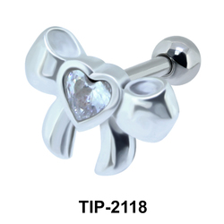 Ribbon Heart Helix Ear TIP-2118