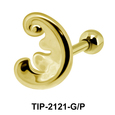 Wavy Pattern Helix Ear Piercing Leave TIP-2121