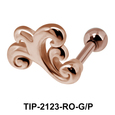 Watery Sign Helix Ear Piercing Leave TIP-2123