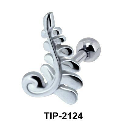 Intricate Helix Ear Piercing Leave Design TIP-2124