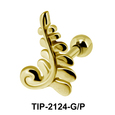 Intricate Helix Ear Piercing Leave Design TIP-2124