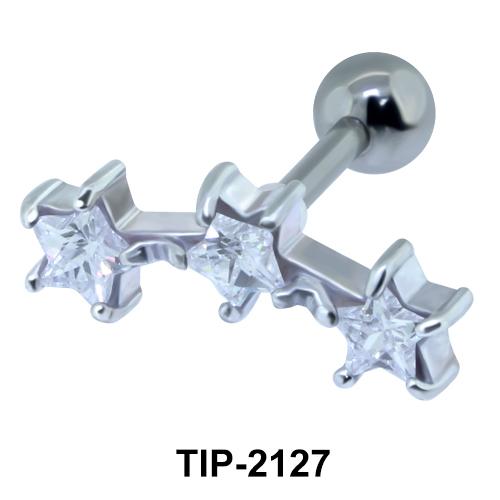 Triple Stars Helix Ear Piercing TIP-2127