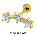 Triple Stars Helix Ear Piercing TIP-2127
