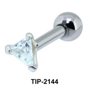 Triangular Stone Helix Ear Piercing TIP-2144