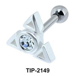 Stone Set Blade Helix Ear Piercing TIP-2149