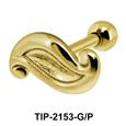 Flowy Design Helix Ear Piercing Leave TIP-2153