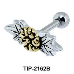 Gold Flower Helix Ear Piercing Leave TIP-2162B