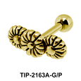 Triple Flower Helix Ear Piercing Leave TIP-2163A