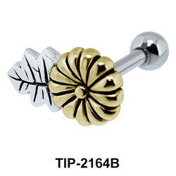 Golden Flower Helix Ear Piercing Leave TIP-2164B