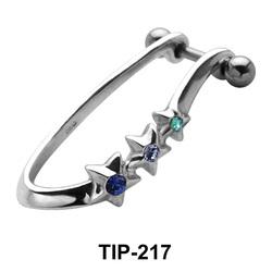 Triple Star Cartilage Shields TIP-217
