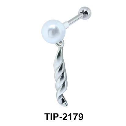 Pearl n Rope Helix Ear Piercing TIP-2179