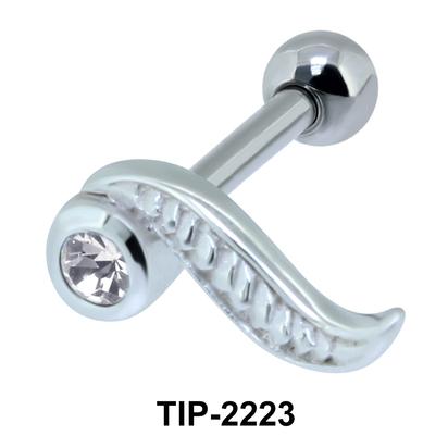 Long Leaf Shape Helix Ear Piercing TIP-2223